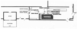 The official diagram of the pantry at the time of the shooting. (California State Archives)