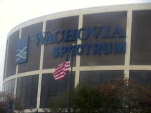The Wachovia Spectrum is set to close after the Pearl Jam concert Oct. 31. (Candice Monhollan)