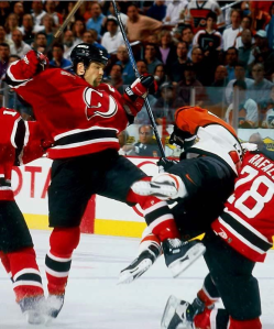 The hit on Eric Lindros ultimately ended his career as a Philadelphia Flyer. (Sports Illustrated)