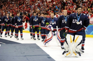 The U.S. men's hockey team fell to Team Canada in the gold medal game. (Getty Images)