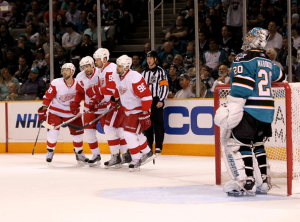 The Detroit Red Wings will take the San Jose Sharks down to advance to the Conference Finals. (Ezra Shaw/Getty Images)