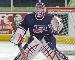 Jack Campbell became a hero in the World Junior Championships en route to Team USA's gold. (Prosportsaddicts.com)
