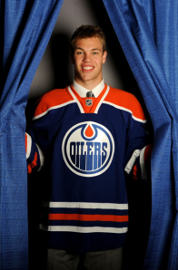 The Edmontoin Oilers chose Taylor Hall as the first overall draft pick. (Harry How/Getty Images)