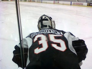 Philadelphia is buzzing over the new Russian net-minder, Sergei Bobrovsky, from the KHL. (Candice Monhollan)