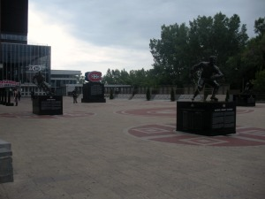 Montreal Canadiens legends located in front of the Bell Centre. (Candice Monhollan)
