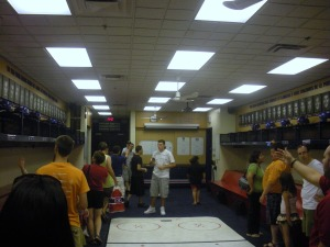 The inside of the Montreal Canadiens locker room. (Candice Monhollan)