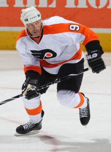 The injury to Ian Laperriere may open a spot on the roster for Bill Guerin. (Claus Andersen/Getty Images)
