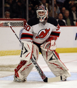 Age and injuries may be finally catching up to Martin Brodeur as he is currently out with a bruised elbow. (Jonathan Daniel/Getty Images)