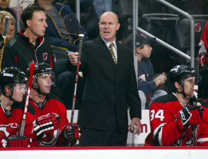 Devils head coach John MacLean only made it through 33 games before GM Lou Lamoriello fired him. (Bruce Bennett/Getty Images)