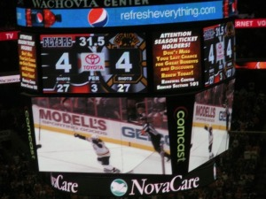 Mark Recchi single-handedly put a dagger into the hearts of Flyers fans. (Candice Monhollan)