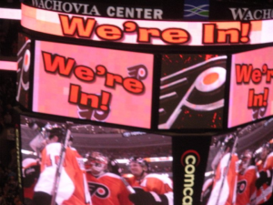 It took all 82 games for the Flyers to make it into the playoffs. (Candice Monhollan)