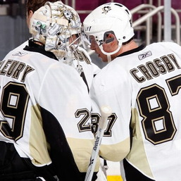 Crosby and Fleury have helped lead the Pittsburgh Penguins to tie for the most points in the League. (Bleacher Report)