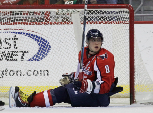 Alex Ovechkin's name can't be found in the top of the scoring or goal race this season. (Rob Carr/Getty Images)