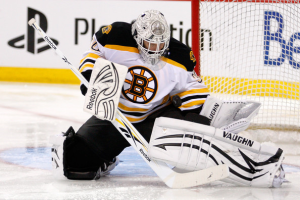 Tim Thomas is pushing to win his second Vezina in three years. (Richard Wolowicz/Getty Images)
