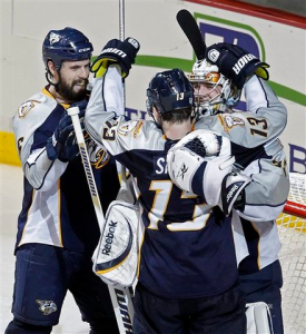 The Nahville Predators have become the latest team to make it out of the first round. (AP)
