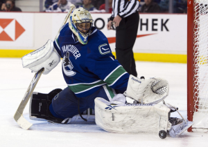 Roberto Luongo recorded his second shutout of the playoffs. (Rich Lam/Getty Images)