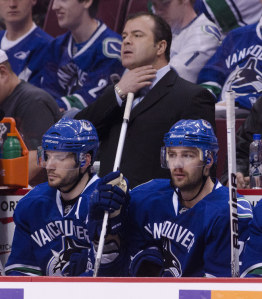 The Vancouver Canucks have been outscored 12-2 in the last two games as they fail to close out the series again. (Rich Lam/Getty Images)
