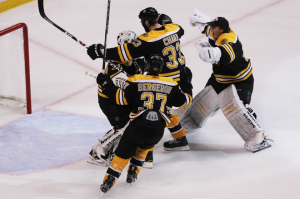 The Boston Bruins are heading back to the Stanley Cup Finals for the first time since the 1989-90 season. (Photo by Jim Rogash/Getty Images)