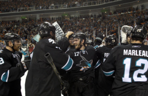 The San Jose Sharks advance to the Conference Finals for the second straight year. (Ezra Shaw/Getty Images)