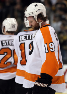 Scott Hartnell and the Philadelphia Flyers couldn't pull off two miracles in two years as they were swept by the Boston Bruins. (Elsa/Getty Images)