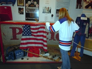 Getting the chance to touch Jim Craig's net felt almost like an honor. (Wendy Monhollan)