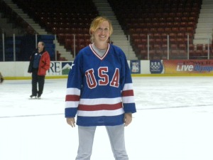 Skating on the ice was like a christening for my new 1980 replica jersey. (Wendy Monhollan)