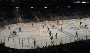 The Reading Royals played in front of their home crowd for the first time in the 2011-12 season. (Candice Monhollan)
