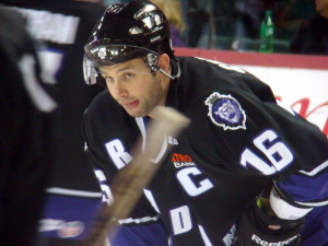 Ryan Cruthers is back in the purple and black after signing a contract with the Reading Royals. (Mike Ashmore)