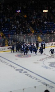 The Royals improved their record to 4-2-1-2 against the Elmira Jackals this season. (Candice Monhollan)