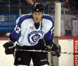 Ryan Button has become an important part of the Reading Royals defense. (Mike Ashmore)