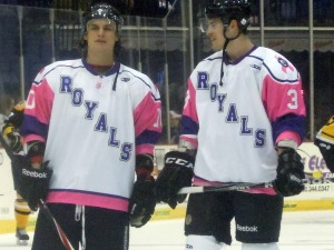 The Royals donned special Pink in the Rink jerseys, which they are undefeated in over the last five years. (Candice Monhollan)