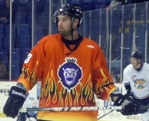 Yannick Riendeau had three points (2G, 1A) in Saturday night's win over the Trenton Titans. (Candice Monhollan)
