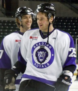 Kenny Ryan scored two goals in his first playoff game as a pro. (Candice Monhollan)