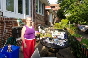Freda Egnal moved into her house 41 years ago and has been the block captain. (Mike Polinsky)
