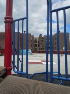 Lea Elementary School new playground adds life to the once empty area. (Candice Monhollan)