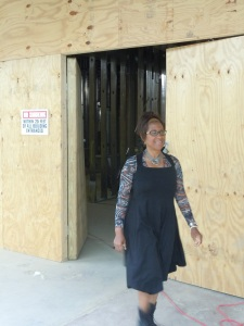 Delilah Winder checked the progress of the Center for Culinary Enterprises. (Candice Monhollan)