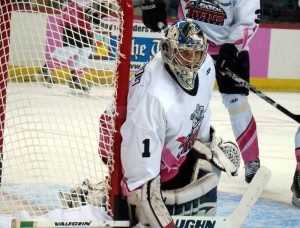 20-year-old Scott Wedgewood made 31 saves in his pro debut Saturday against the Reading Royals. (Mike Ashmore)
