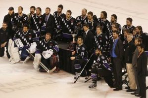The Reading Royals celebrate as the 2013 Eastern Conference Champions. (The Enquirer/Joseph Fuqua II)