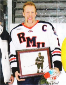 Chris Kushneriuk spent time as captain of the Robert Morris University hockey team. (Chris Kushneriuk)