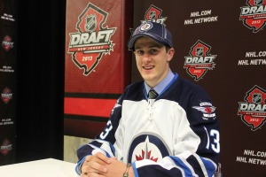 James Lodge missed his name being called by the Winnipeg Jets at the 2013 NHL Entry Draft. (Candice Monhollan)