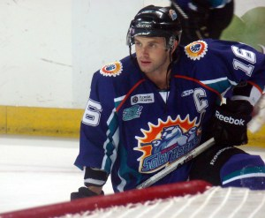 Ryan Cruthers has scored eight goals and eight assists through 28 games for the Orlando Solar Bears. (Mike Ashmore)