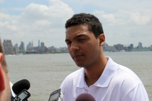Seth Jones is poised to go either first or second overall in the draft on Sunday. (Candice Monhollan)
