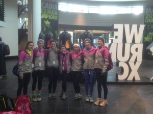 The Unionville girls cross country team competed for the national title in Portland, Ore. Dec. 7. (Mark Lacianca)