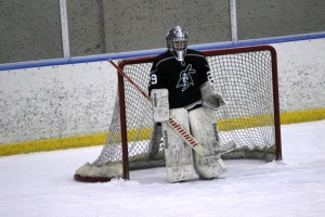 Junior goaltender Devon Strachan made 25 saves against Downingtown East Friday night. (Candice Monhollan)