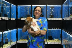 Paws & Claws Pet Store owner George Treisner had to become resourceful when his shop lost power and had to keep all the animals warm. (Candice Monhollan)