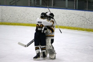 Goaltender Joshua Seder backstopped Unionville with 19 saves to send them to the semifinals. (Candice Monhollan)