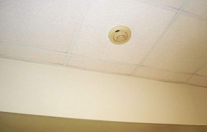 This smoke detector and all others at New Garden Elementary School were replaced. (Fran Maye)