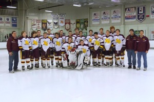 The Avon Grove boys ice hockey team finished with an impressive 13-3-1 record this season, earning a spot in the championship game against DMA. (Jim Este)