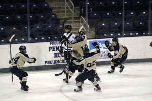 Captain J.R. Barone had four points (2G, 2A) in the State Championship game Saturday. (Candice Monhollan)