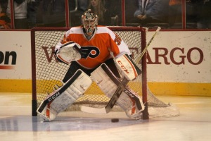 Steve Mason was stellar for the Philadelphia Flyers to force a Game 7. (Candice Monhollan)
